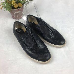 Frye Womens Slip On Shoes Sz 8.5 M Black Sneakers